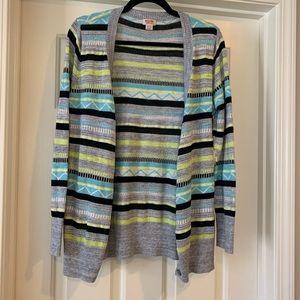 XL Mossimo Gray Striped Cardigan